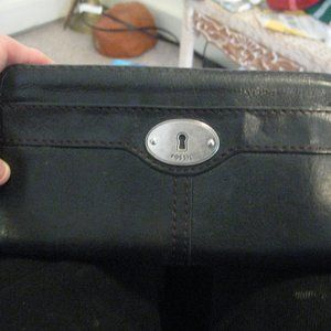 FOSSIL LEATHER WALLET 12CARD*FREESHIPPING.